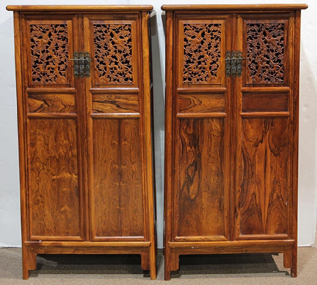 Two Chinese Hardwood Cabinets