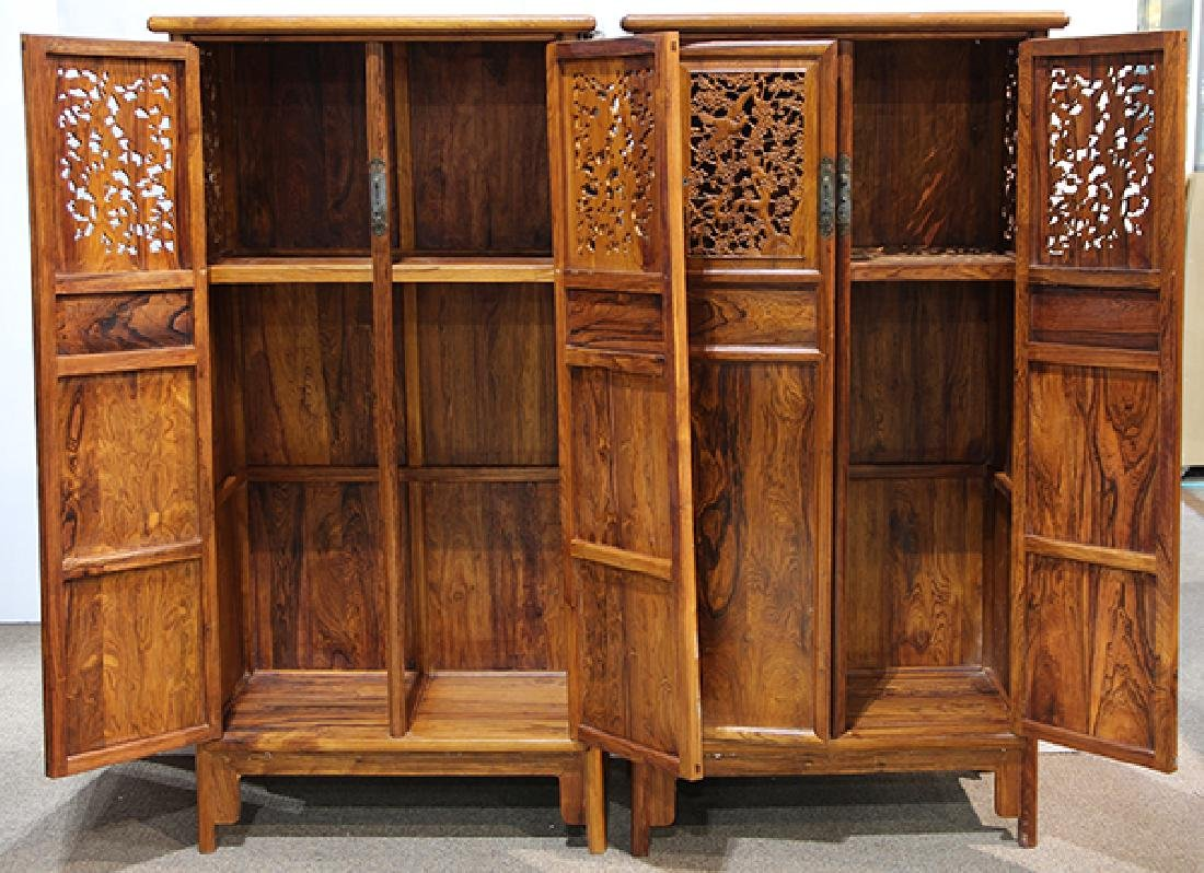 Two Chinese Hardwood Cabinets - 2