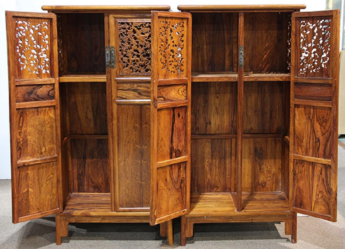 Two Chinese Hardwood Cabinets - 3