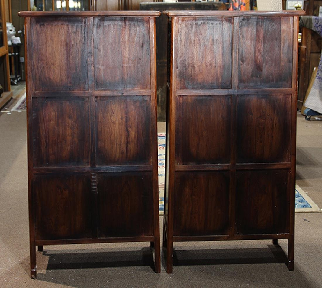 Two Chinese Hardwood Cabinets - 4