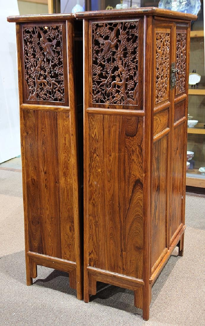 Two Chinese Hardwood Cabinets - 6
