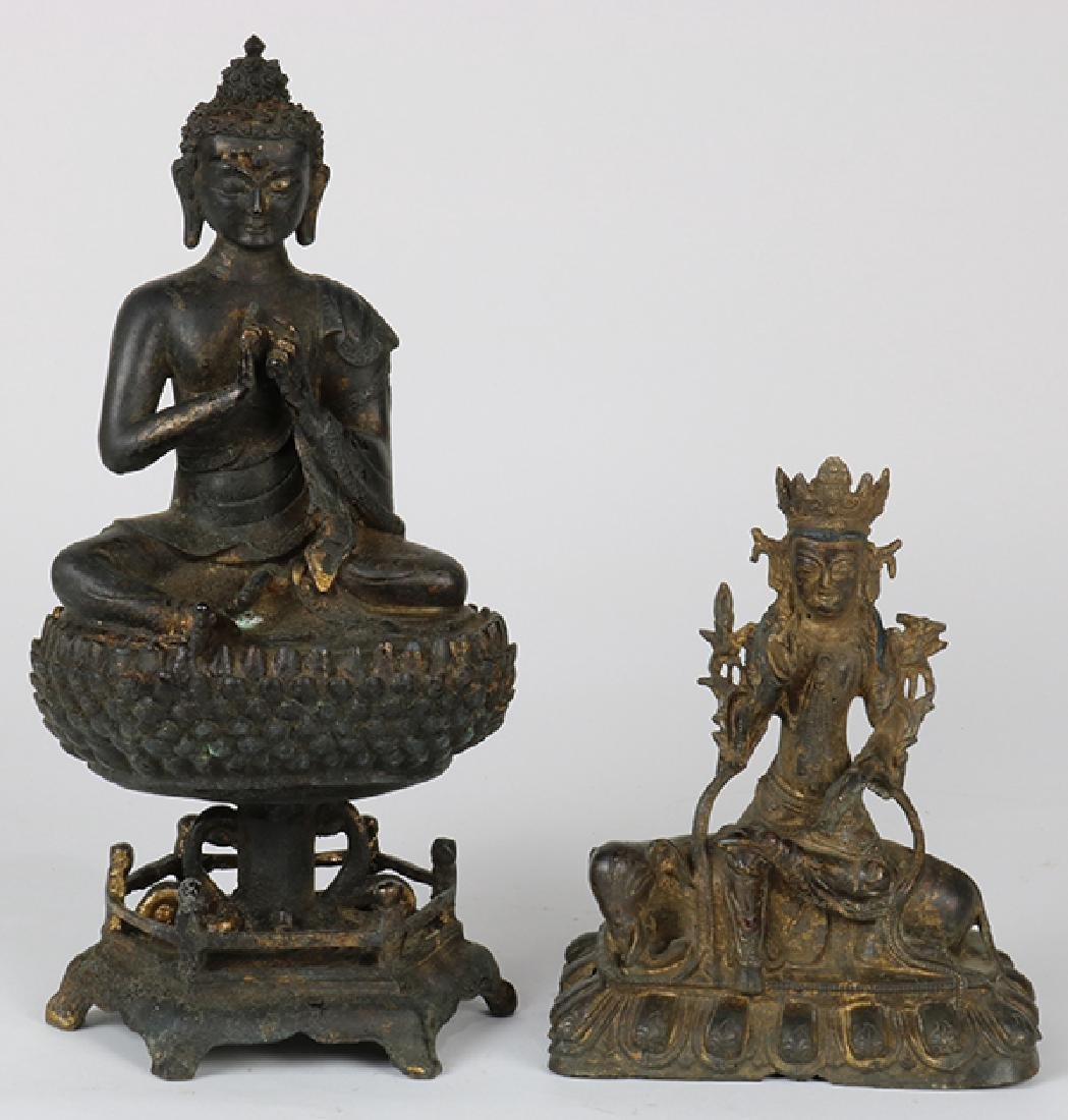 Two Chinese Buddhist Sculptures