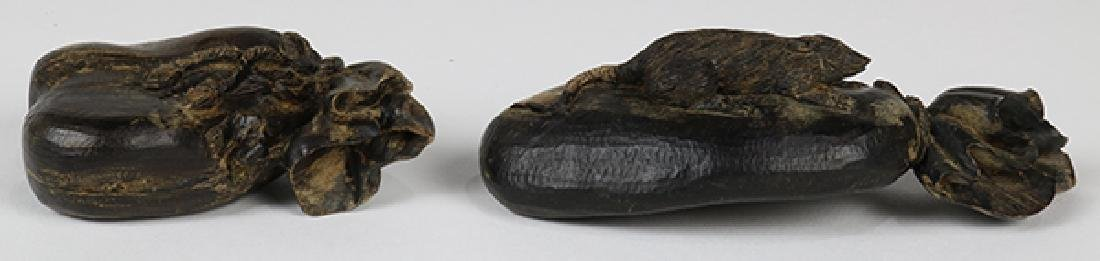 Chinese Wood Carving of Treasure Sacks