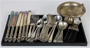 American sterling silver flatware group 21.70 troy oz.