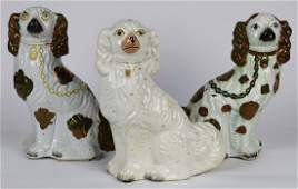 (Lot of 3) Staffordshire ceramic group, consisting of