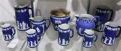Lot of 22 Wedgwood porcelain table articles blue and