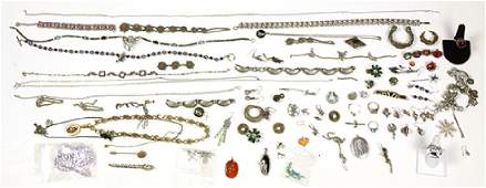 Collection of multi-stone, gold filled, silver and