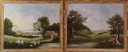 Paintings, Farm Scene Landscapes.