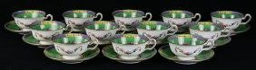 (lot of 24) Copeland Spode porcelain tea cups and