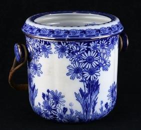 """Royal Doulton """"Daisy"""" flow blue porcelain waste bowl"""