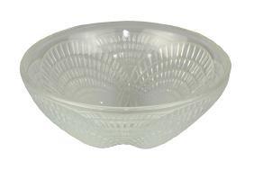 Lalique ''Coquilles'' opaline glass finger bowl,