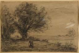 Work on paper, Jean-Baptiste-Camille Corot