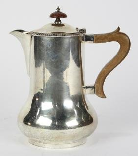 English sterling silver milk jug, by Henry Wilkinson,