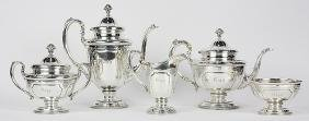 (lot of 5) Towle sterling silver hot beverage service