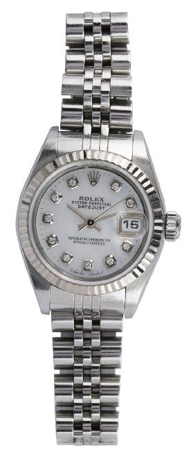 Lady's Rolex Datejust diamond and stainless steel
