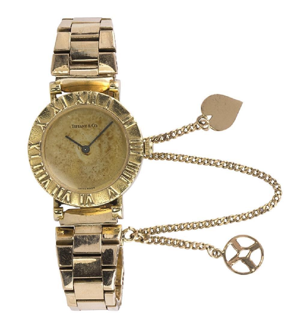 Tiffany & Co Atlas 18k yellow gold wristwatch