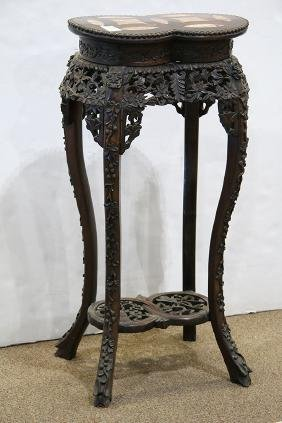 Chinese Export Flower Stand, Linked Coin