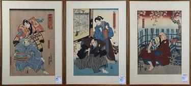 Japanese Woodblock Prints  Utagawa Toyokuni 19c