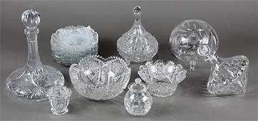 (Lot of 16) Brilliant cut crystal group, consisting of