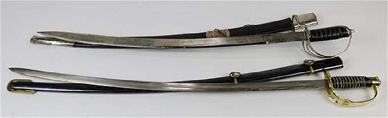(Lot of 2) Steel sword group, 20th Century, consisting