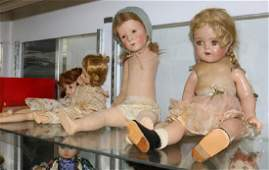 (Lot of 18) Doll group, consisting of felted,