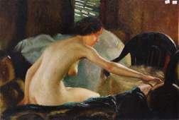 Paintings, Nude Woman and Portrait of Theodore