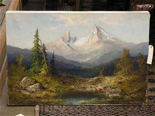 Mountain Landscape by H.S. Wagner