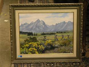 Mountain Ridge Across the Fields by Joanne Hennes