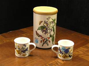 Port Marion Canister and Two Teacups
