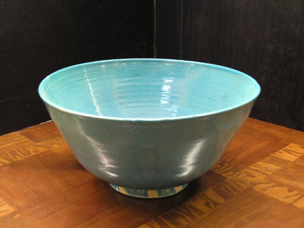 17A: Blue glazed pottery bowl