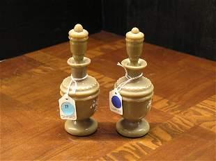 Pair of Bristol glass perfumes