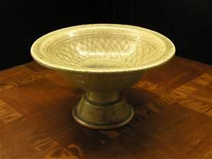 Celadon Footed Center Bowl