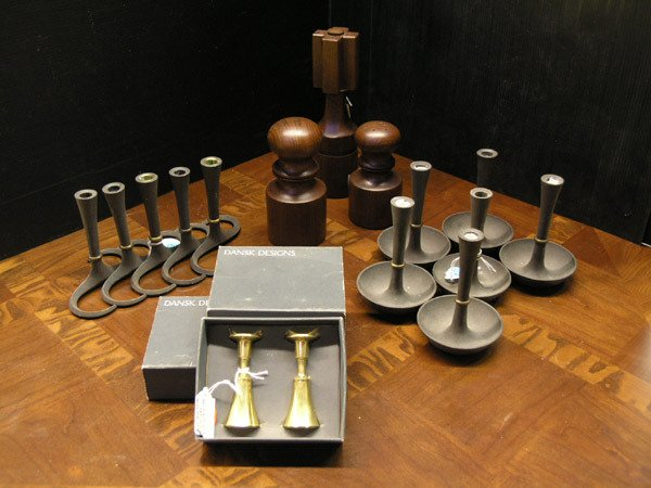 30: JHQ Dansk Teak Peppermill With GC Salt & Peppermill