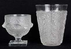 ( lot of 2) Lalique crystal group, consisting of an