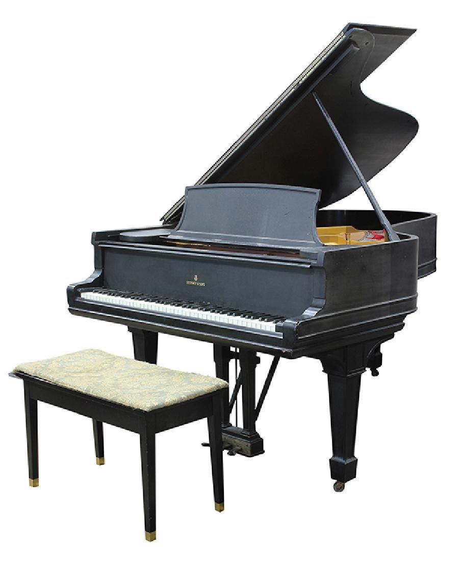 Steinway and Sons New York, 1891, model B grand piano,