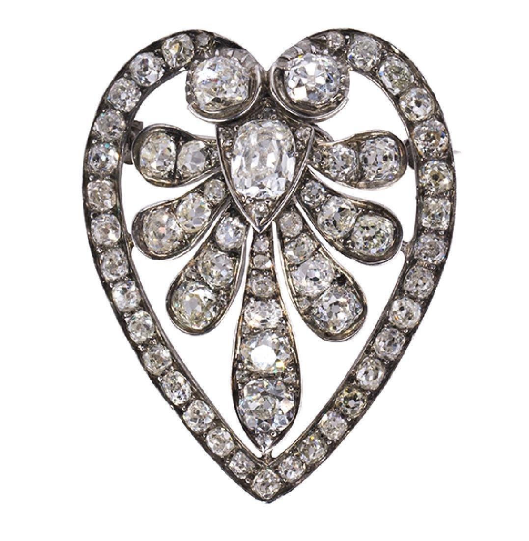 Georgian diamond, silver-topped white gold