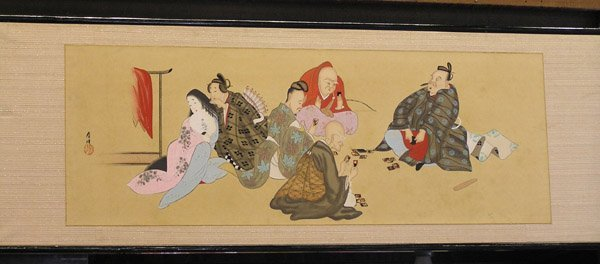 4005: Japanese Meiji/Taisho panel painting