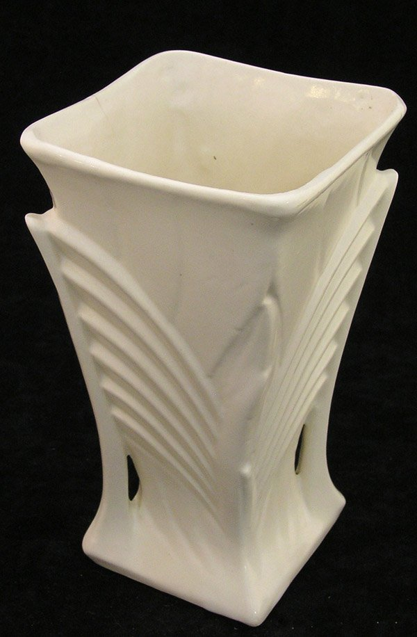4019: McCoy art pottery vase Art Deco