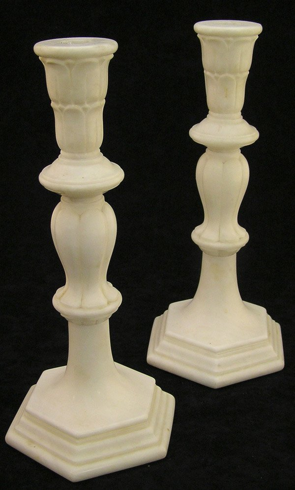 4021: Alabaster candlesticks