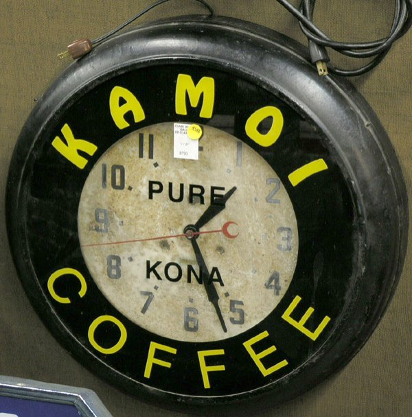 4142: Kamoi Coffee, Pure Kona Neon Clock