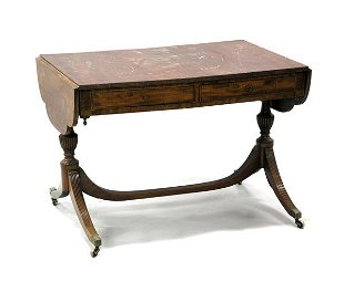 Duncan Phyfe Round Table With Drawer.Duncan Phyfe Prices 429 Auction Price Results