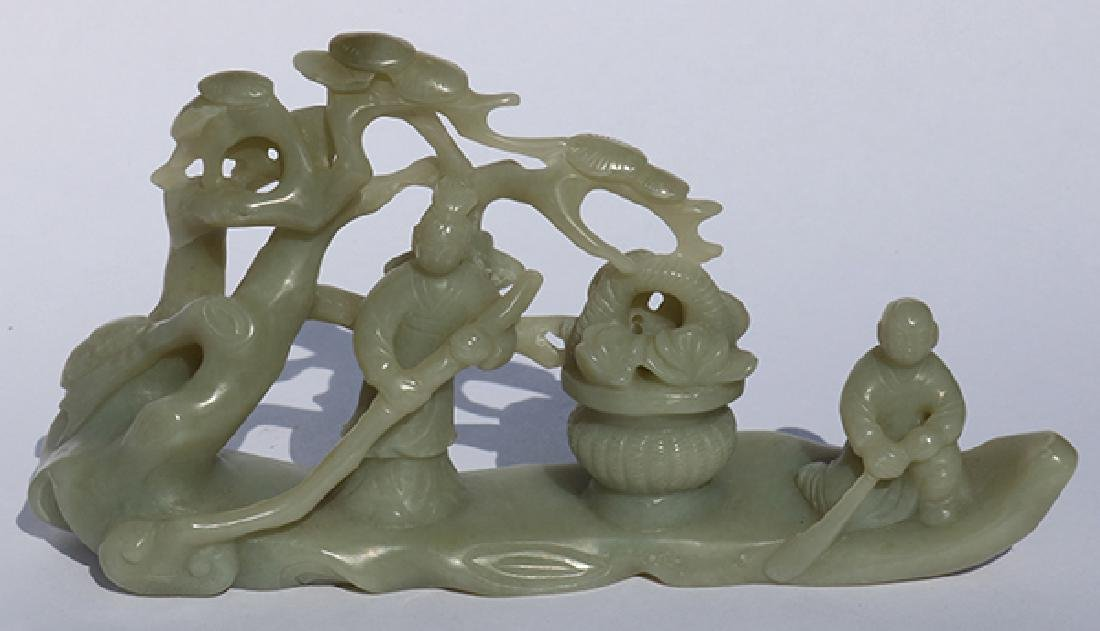 Chinese Hardstone Figural Group