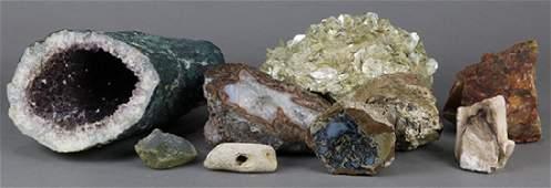 (lot of 9) Rock specimen group, 9