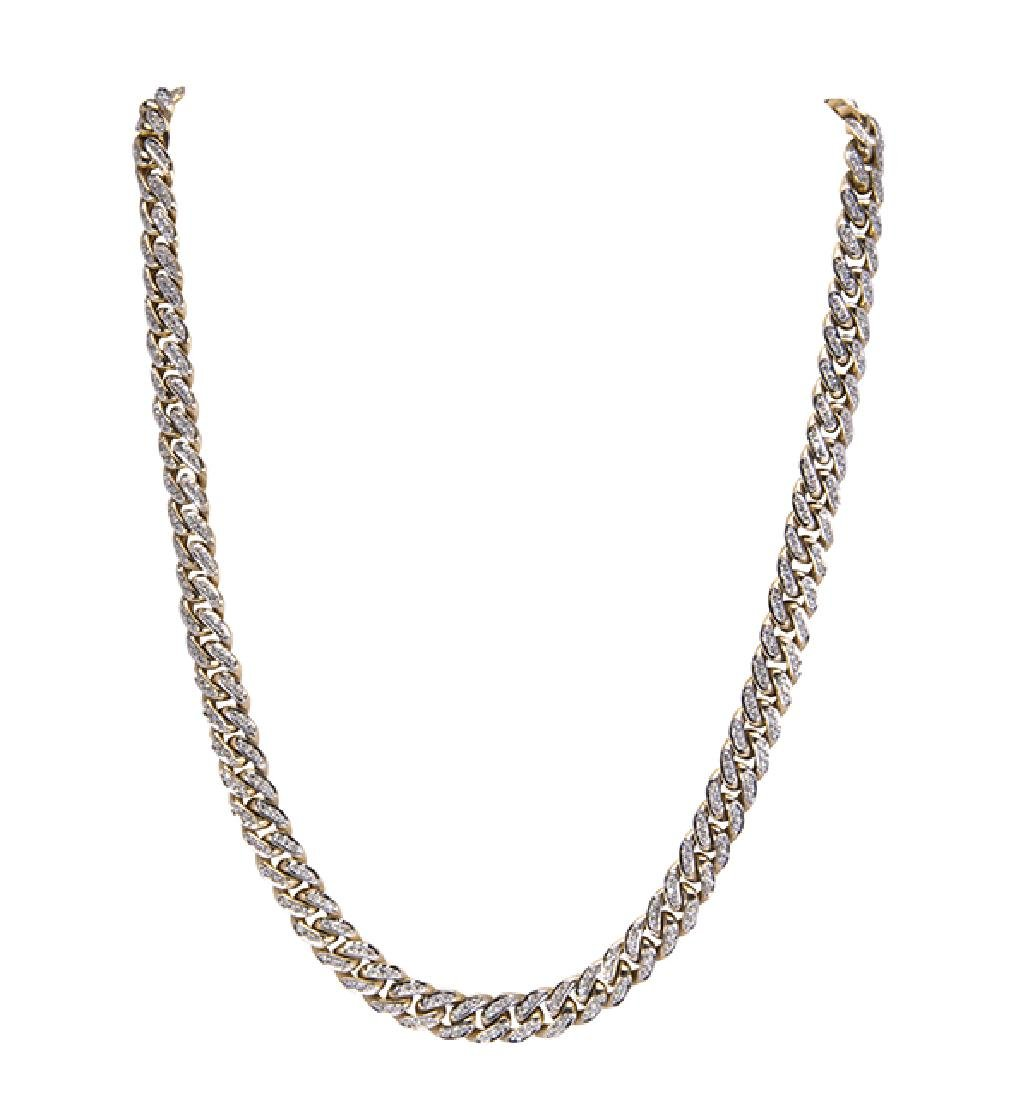 Diamond and 18k yellow gold necklace