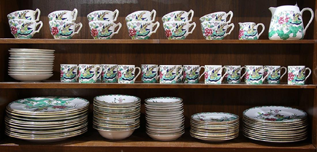 """(lot of 92) Crown Staffordshire table ware in the """"Rock"""