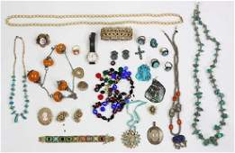 Collection of multi-stone, silver and gold-filled metal