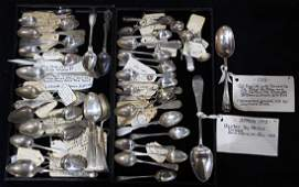 (lot of approx. 64) Collection of spoons
