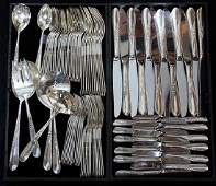 (lot of 91) American Reed and Barton sterling flatware