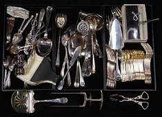 lot of approx 50 Continental silverplate flatware