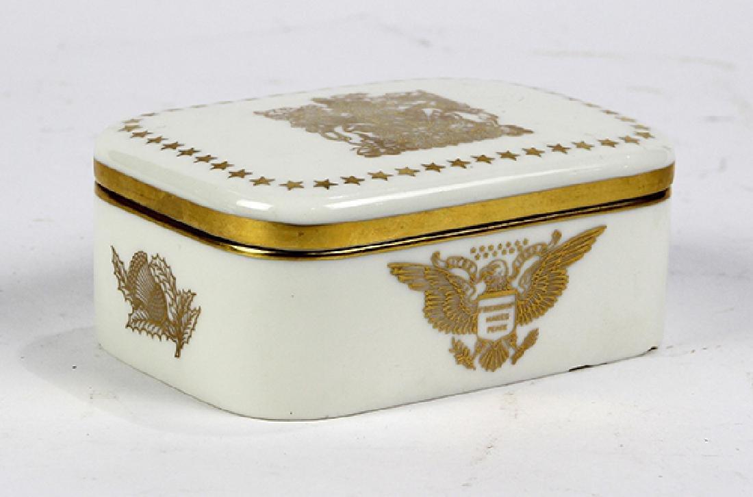 Lenox porcelain lidded box, commemorative box made in